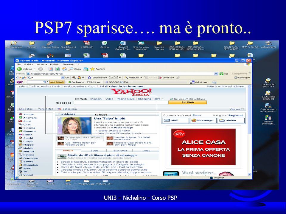 PSP7 sparisce…. ma è pronto..