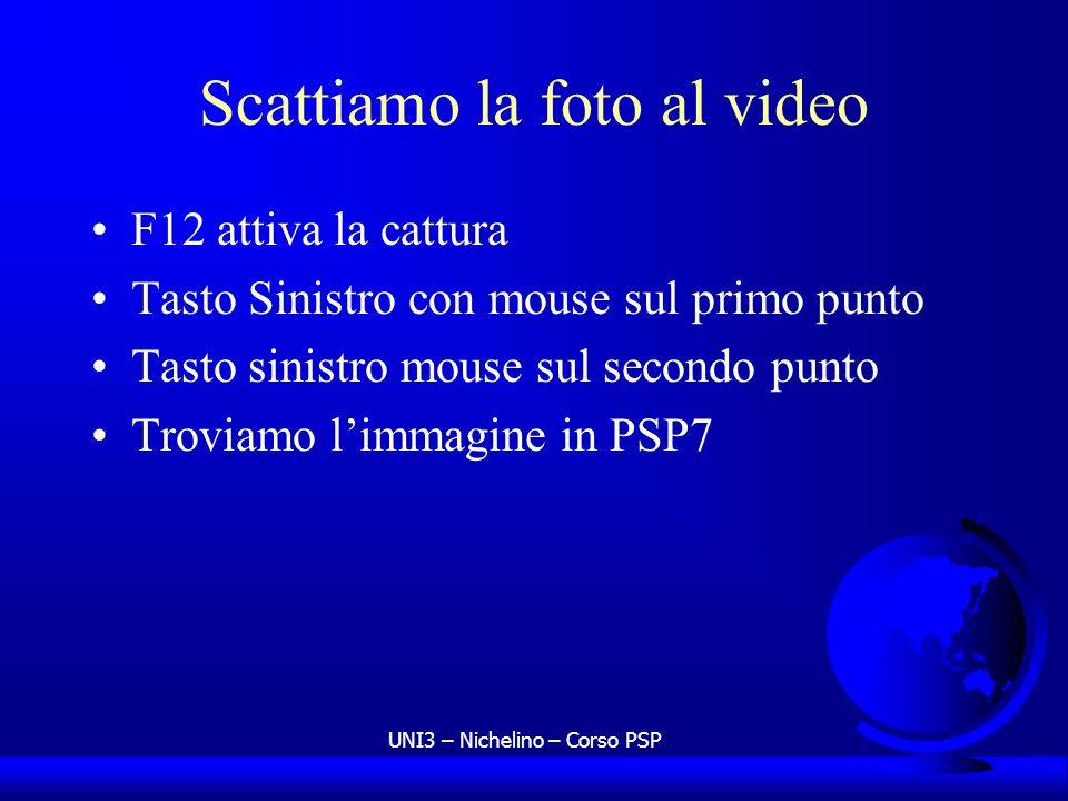 Scattiamo la foto al video