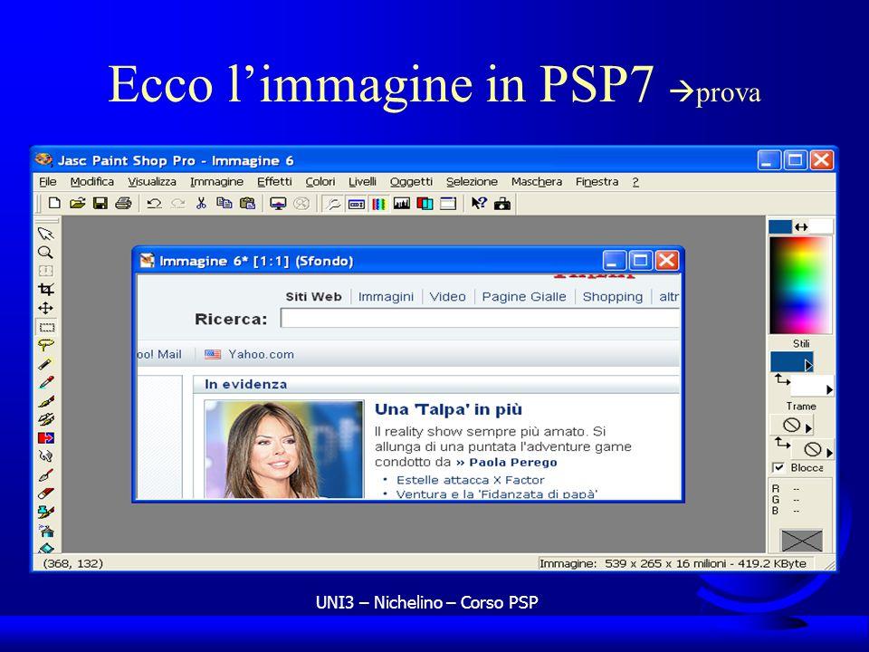 Ecco l'immagine in PSP7 prova