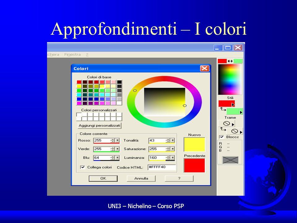 Approfondimenti – I colori