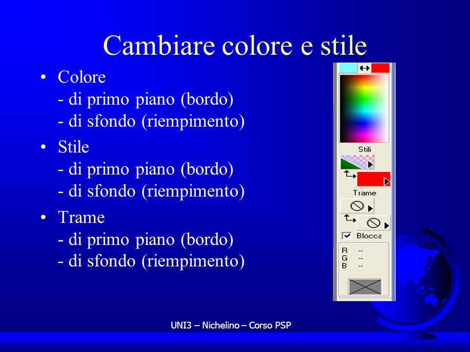 Cambiare colore e stile