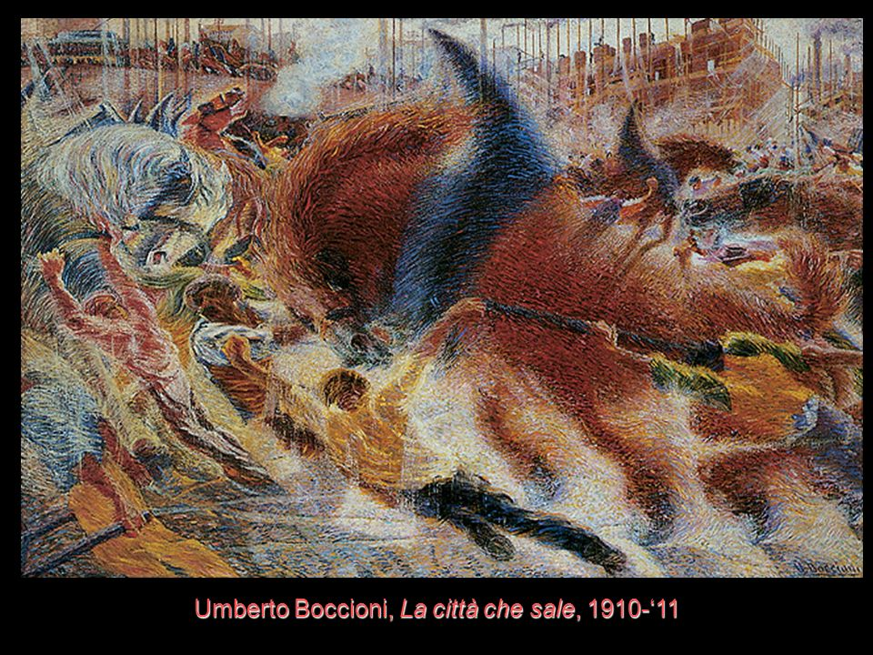 Umberto Boccioni, La città che sale, 1910-'11