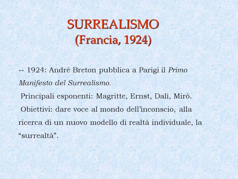 SURREALISMO (Francia, 1924)