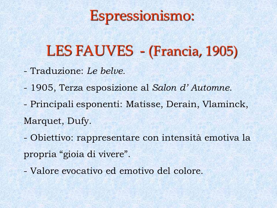 Espressionismo: LES FAUVES - (Francia, 1905)