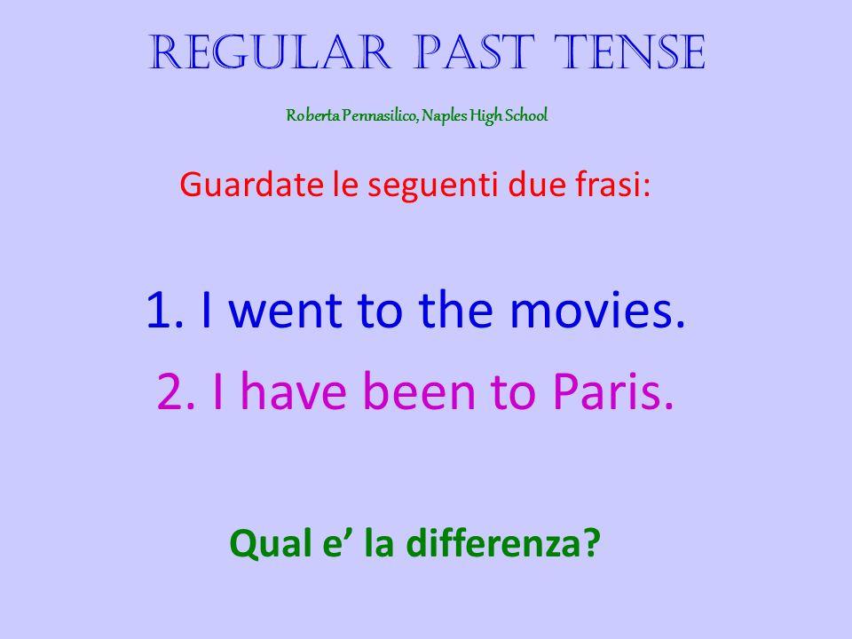 Guardate le seguenti due frasi: