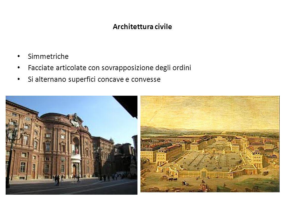 Architettura civile Simmetriche. Facciate articolate con sovrapposizione degli ordini.