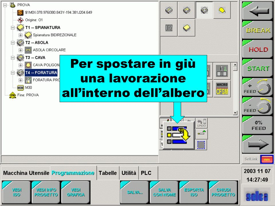 all'interno dell'albero