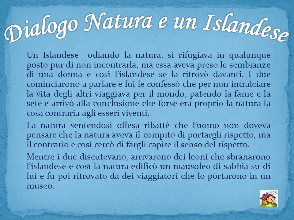 Dialogo Natura e un Islandese