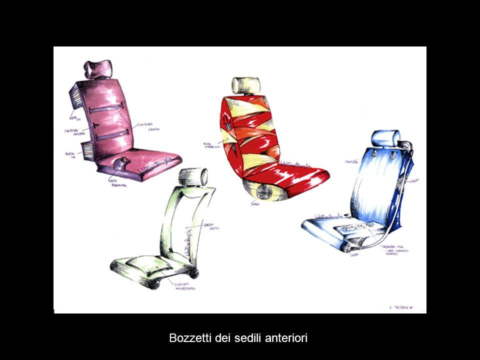 Bozzetti dei sedili anteriori
