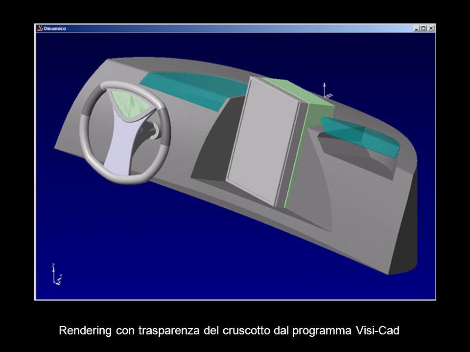 Rendering con trasparenza del cruscotto dal programma Visi-Cad