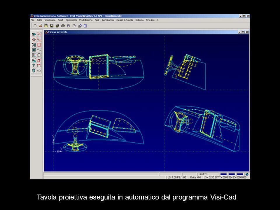 Tavola proiettiva eseguita in automatico dal programma Visi-Cad
