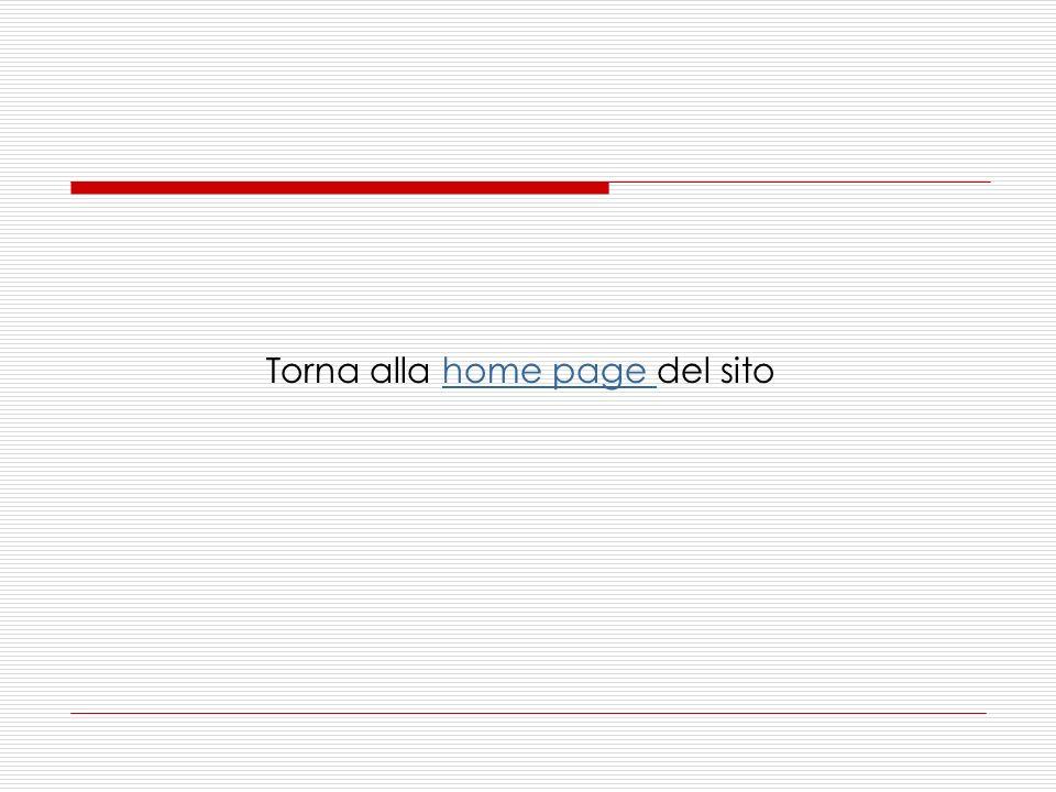 Torna alla home page del sito