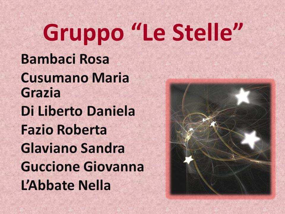 Gruppo Le Stelle Bambaci Rosa Cusumano Maria Grazia