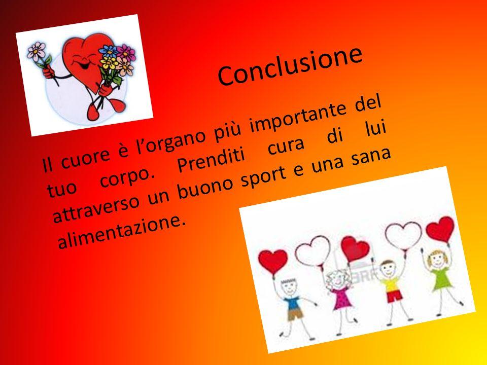 Conclusione Il cuore è l'organo più importante del tuo corpo.