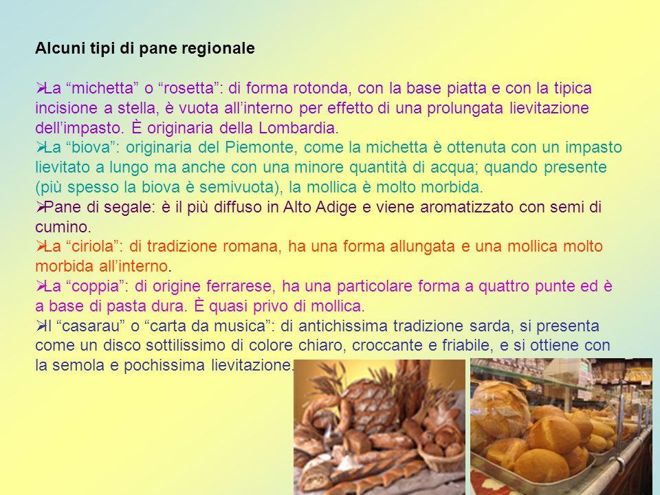 Alcuni tipi di pane regionale