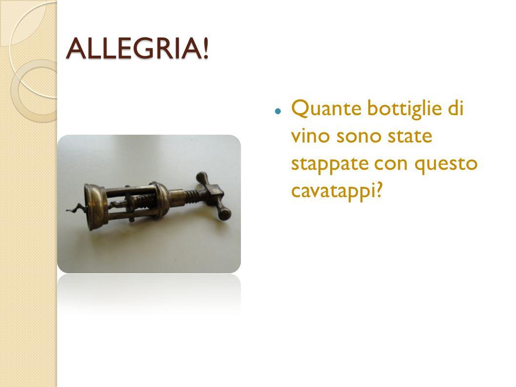 ALLEGRIA! Quante bottiglie di vino sono state stappate con questo cavatappi