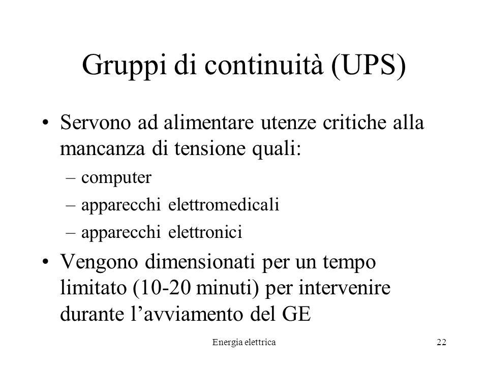Gruppi di continuità (UPS)