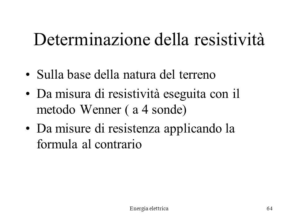 Determinazione della resistività