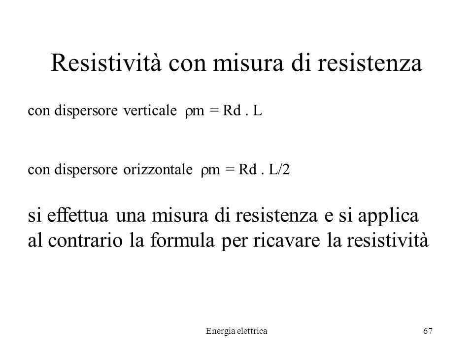 Resistività con misura di resistenza