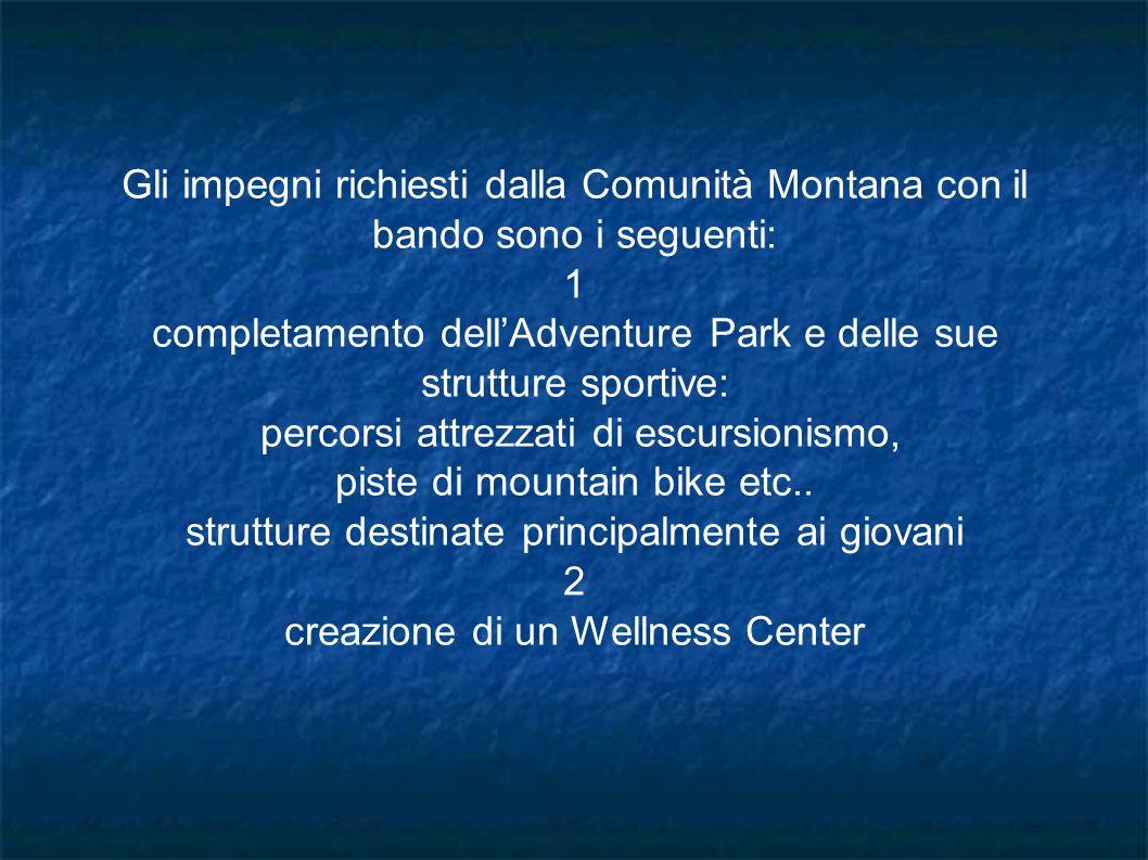 completamento dell'Adventure Park e delle sue strutture sportive: