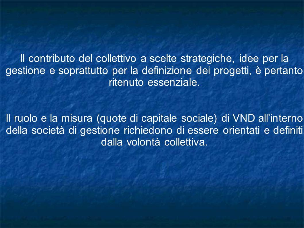 Il contributo del collettivo a scelte strategiche, idee per la gestione e soprattutto per la definizione dei progetti, è pertanto ritenuto essenziale.