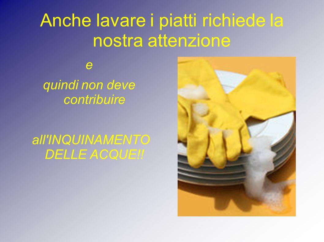 Anche lavare i piatti richiede la nostra attenzione