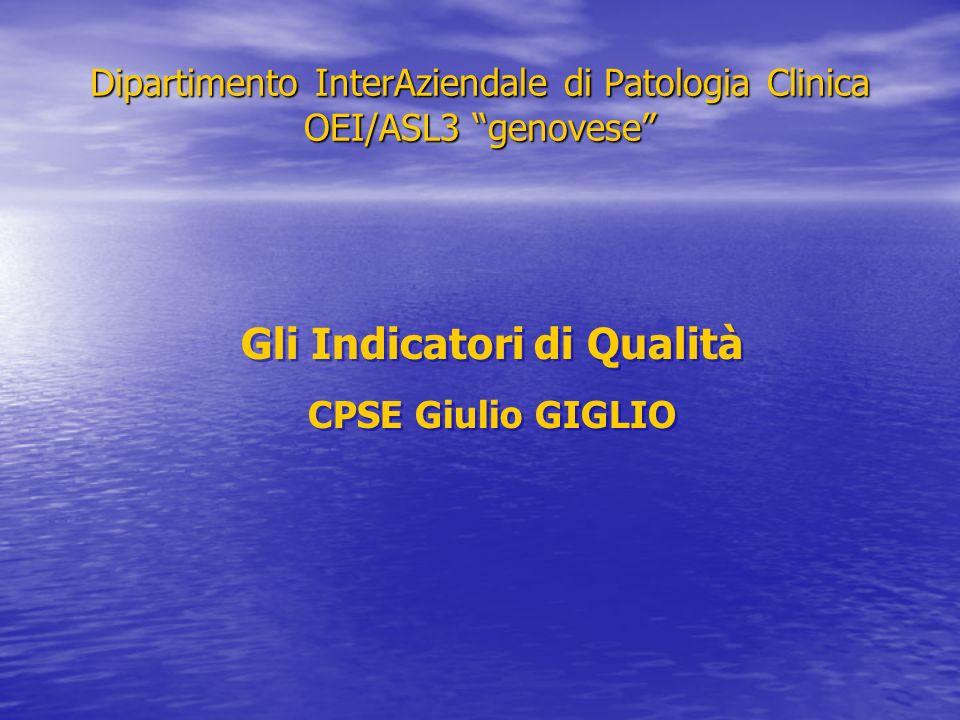 Dipartimento InterAziendale di Patologia Clinica OEI/ASL3 genovese