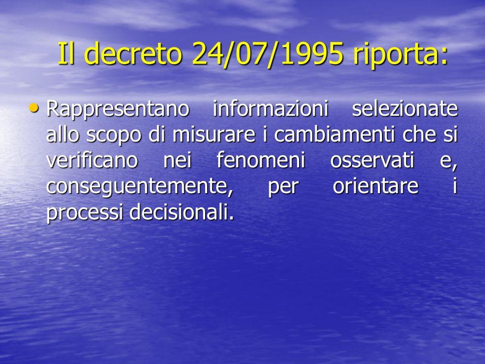 Il decreto 24/07/1995 riporta: