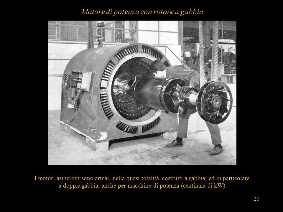Motore di potenza con rotore a gabbia