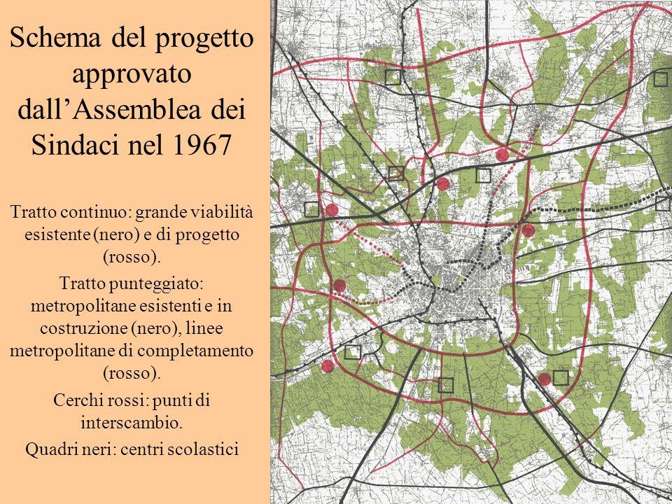Schema del progetto approvato dall'Assemblea dei Sindaci nel 1967