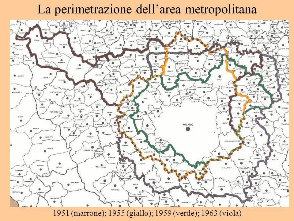 La perimetrazione dell'area metropolitana