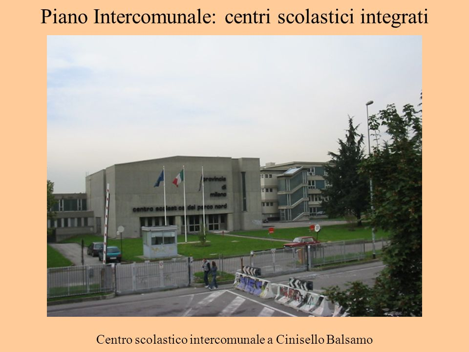 Piano Intercomunale: centri scolastici integrati