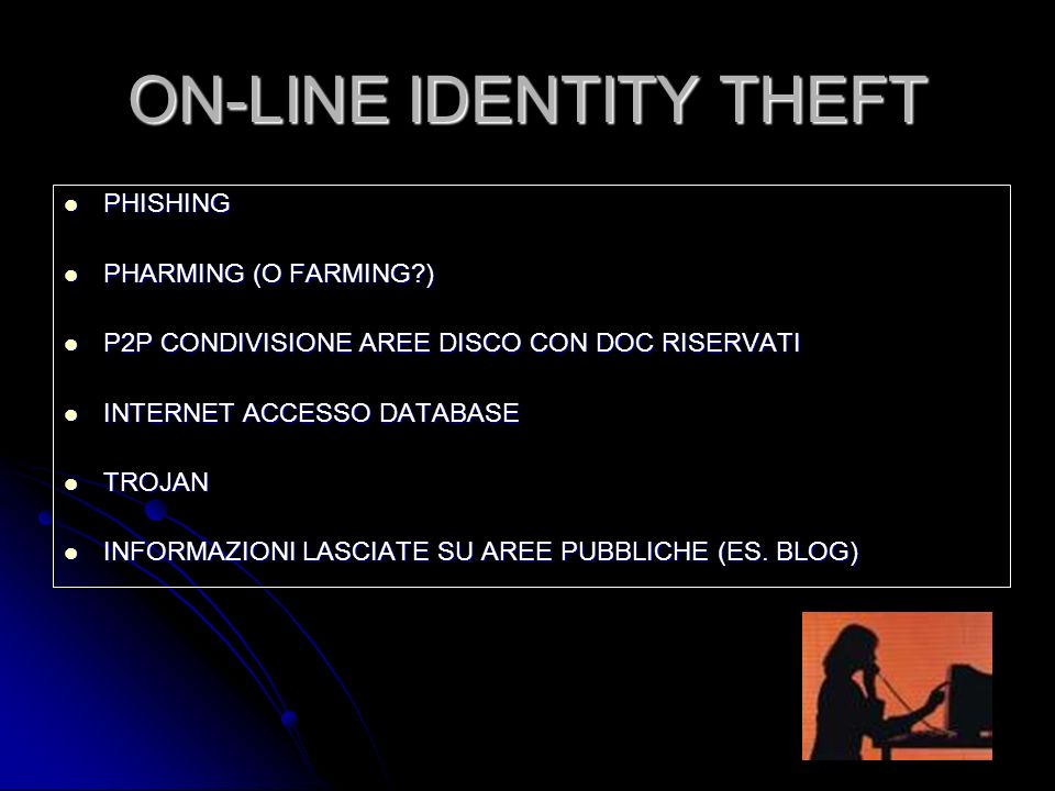 ON-LINE IDENTITY THEFT