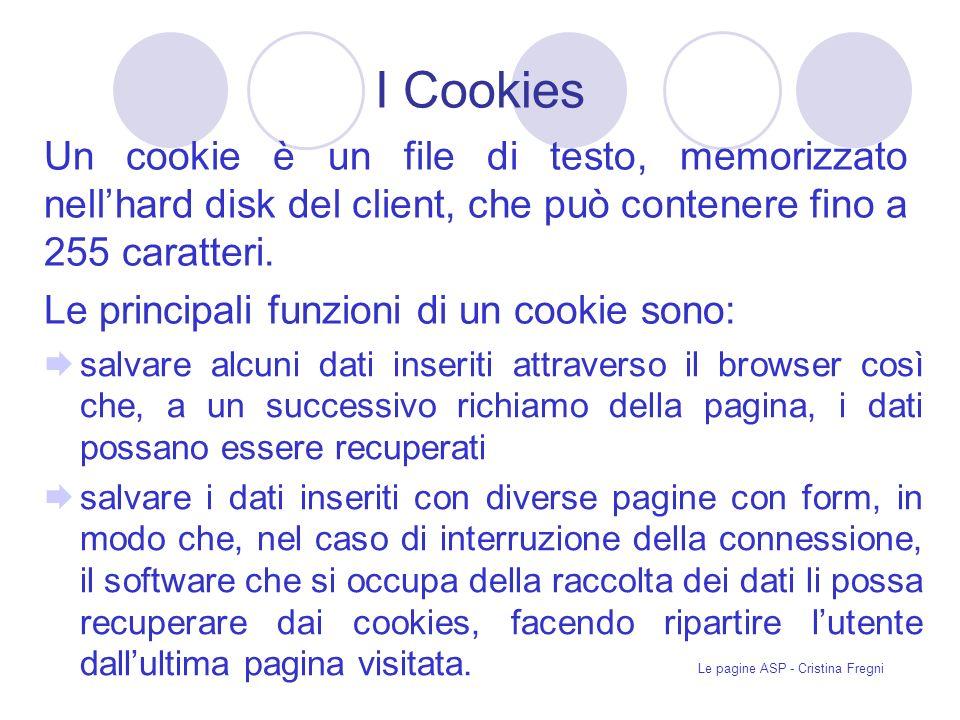 Le pagine ASP - Cristina Fregni