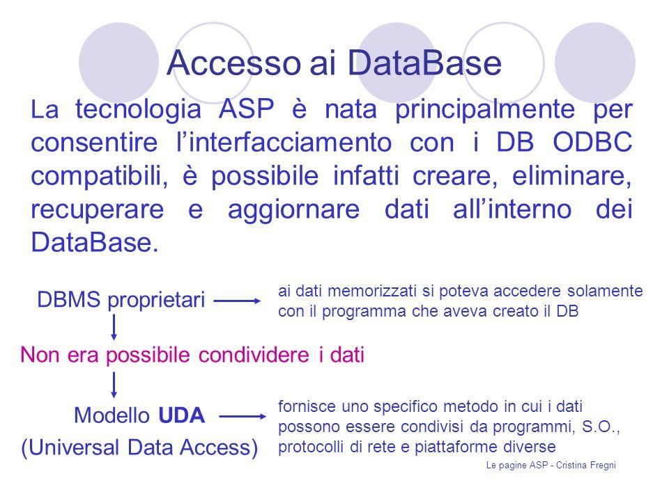 Accesso ai DataBase