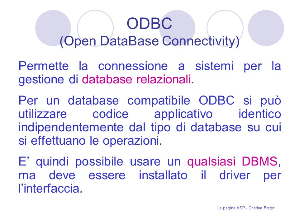 ODBC (Open DataBase Connectivity)