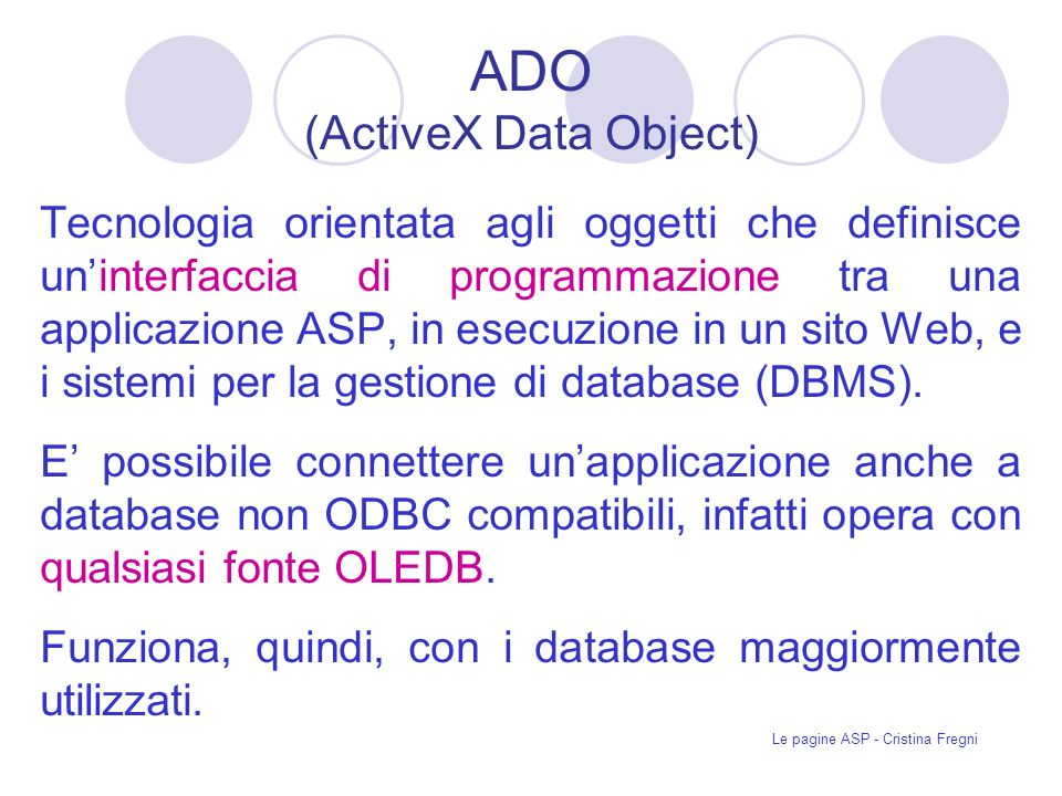 ADO (ActiveX Data Object)