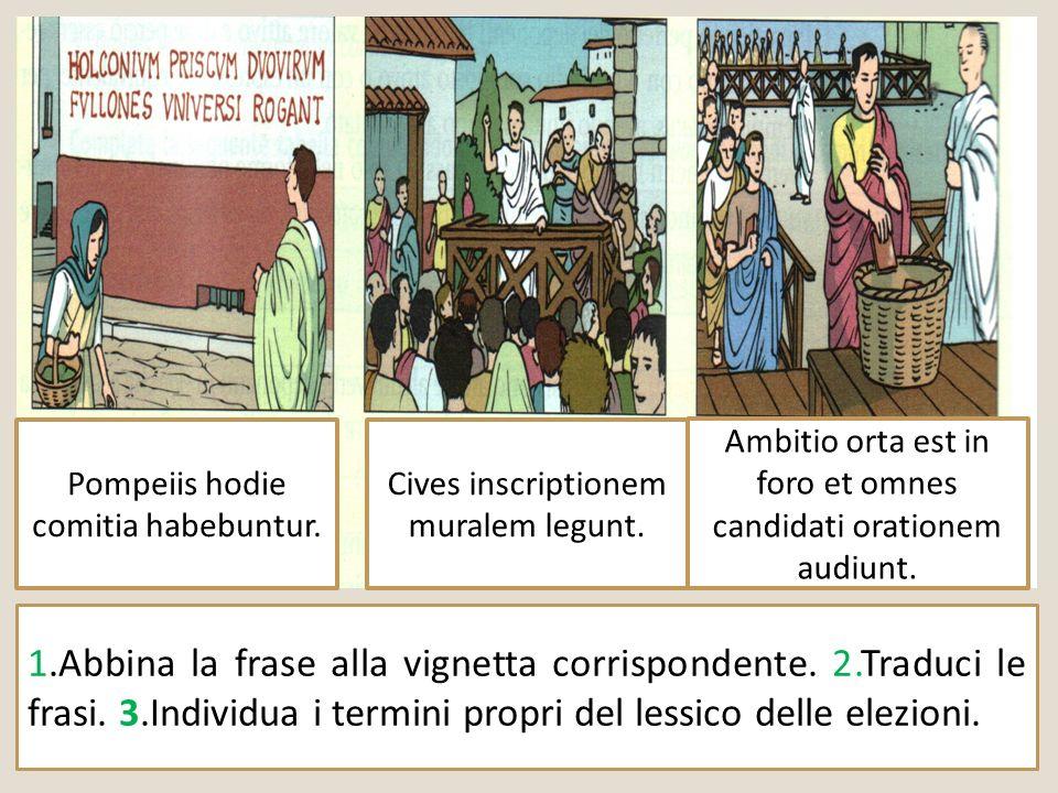 Pompeiis hodie comitia habebuntur.
