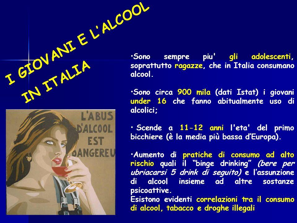 I GIOVANI E L'ALCOOL IN ITALIA