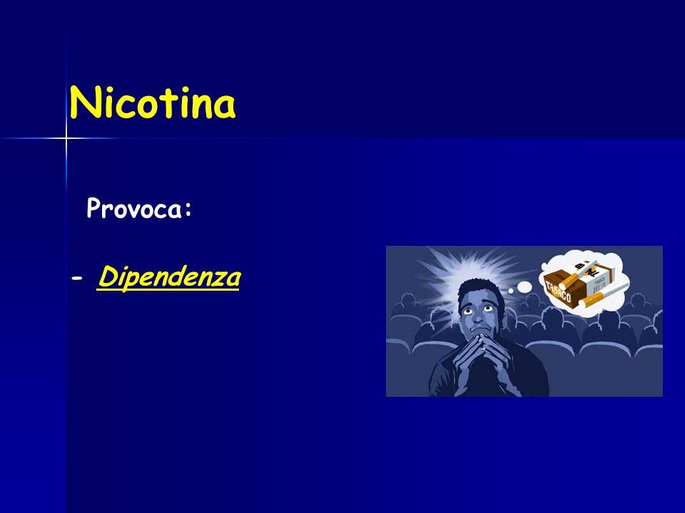 Nicotina Provoca: - Dipendenza