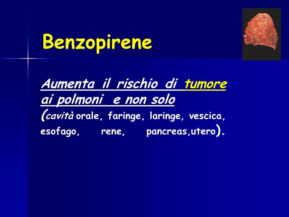Benzopirene Aumenta il rischio di tumore ai polmoni e non solo