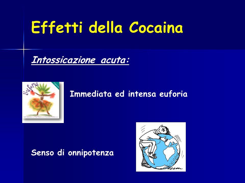 Effetti della Cocaina Intossicazione acuta: