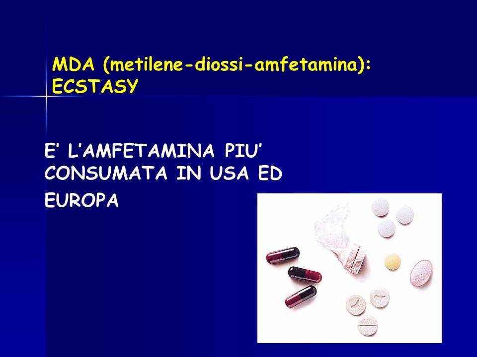 MDA (metilene-diossi-amfetamina): ECSTASY
