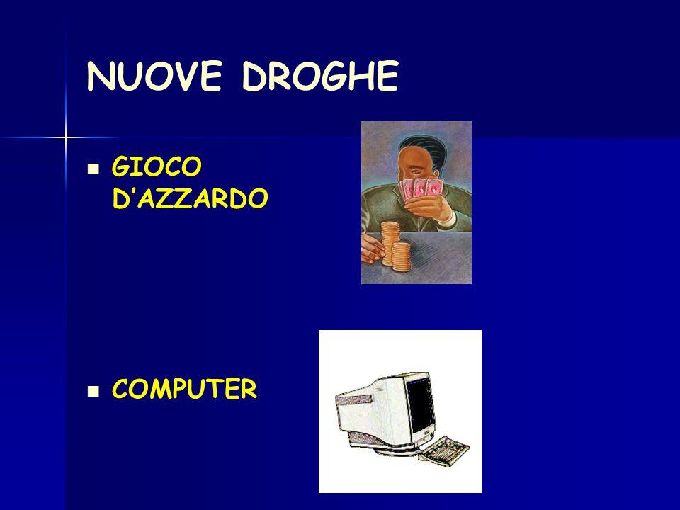 NUOVE DROGHE GIOCO D'AZZARDO COMPUTER