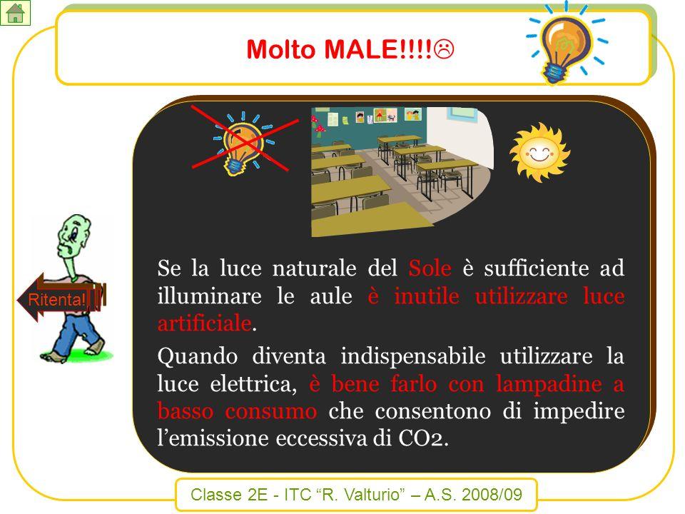 Molto MALE!!!! Se la luce naturale del Sole è sufficiente ad illuminare le aule è inutile utilizzare luce artificiale.