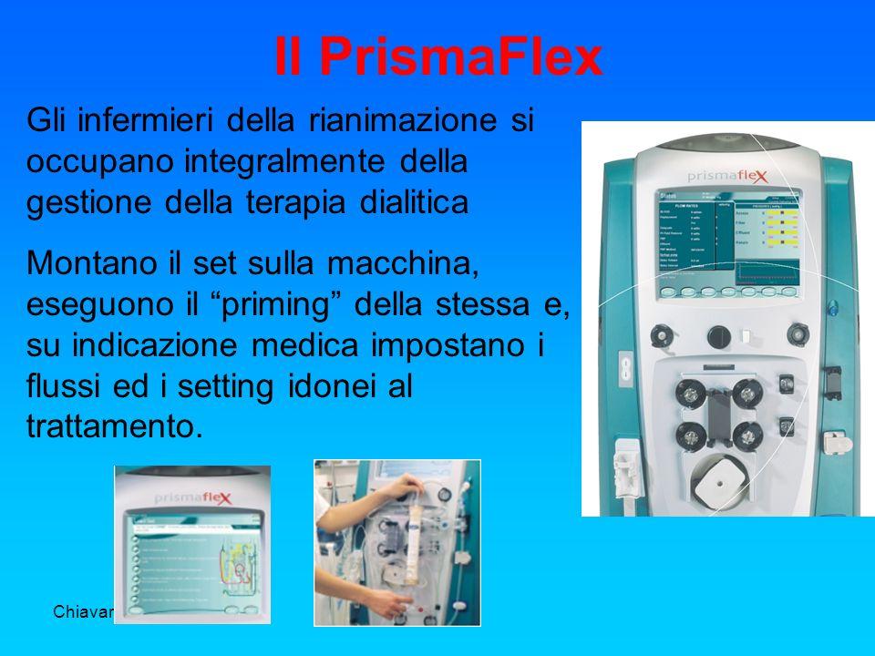 Il PrismaFlex Gli infermieri della rianimazione si occupano integralmente della gestione della terapia dialitica.