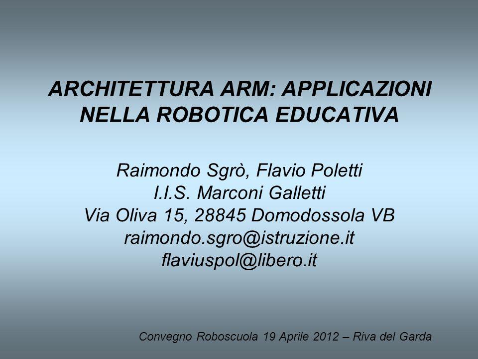 ARCHITETTURA ARM: APPLICAZIONI NELLA ROBOTICA EDUCATIVA