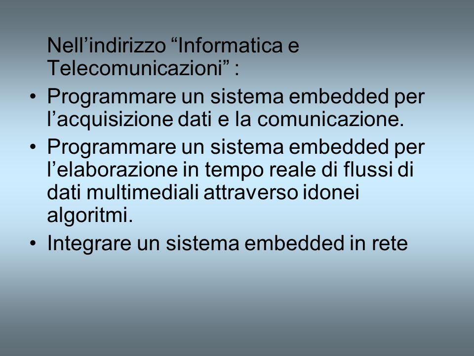 Nell'indirizzo Informatica e Telecomunicazioni :