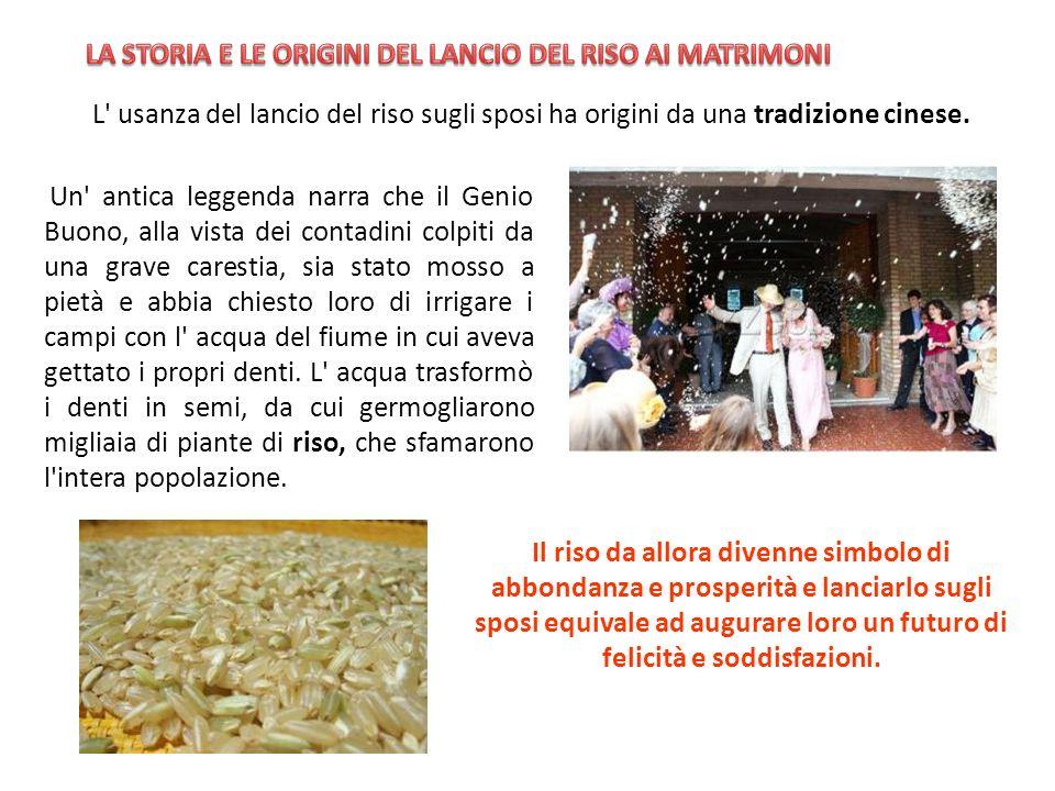 LA STORIA E LE ORIGINI DEL LANCIO DEL RISO AI MATRIMONI