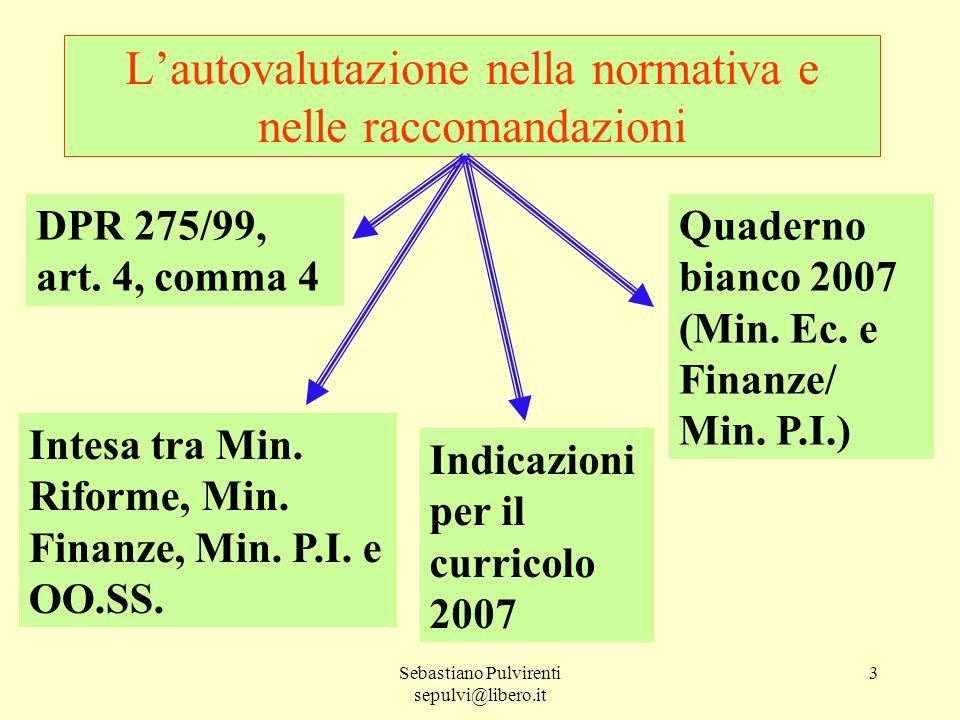 L'autovalutazione nella normativa e nelle raccomandazioni
